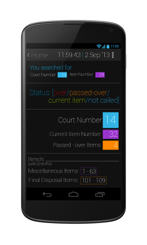 Search by Court Number + Item Number