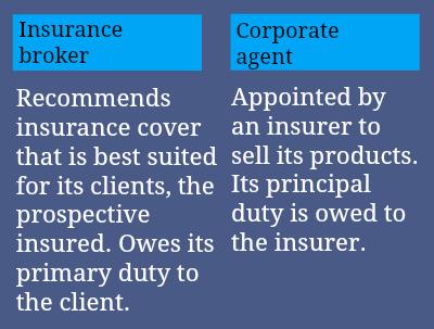 InsuranceBrokervCorporateAgent