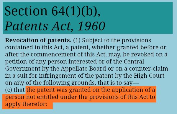Section64(1)(b)_Revocationofpatent_entitled