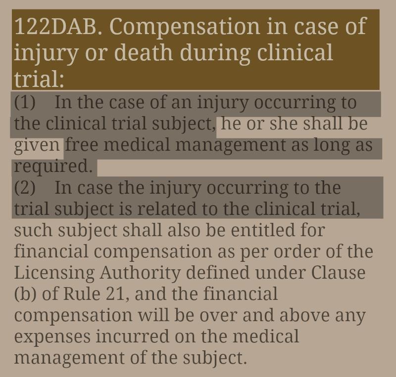 Compensation_InjuryOrDeath_ClinicalTrials_Rule122DAB_DrugsAndCosmeticsRules.jpg