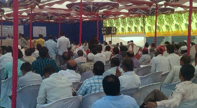 A public hearing underway for integrated facilities at the Kandla Port. Photo credit: Bharat Patel