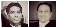 The bench in the Third Spectrum Case - Justices Vikramjit Sen and K.S. Radhakrishnan.