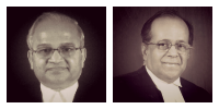 The bench in the First Spectrum Case - Justices G.S. Singhvi and A.K. Ganguly.