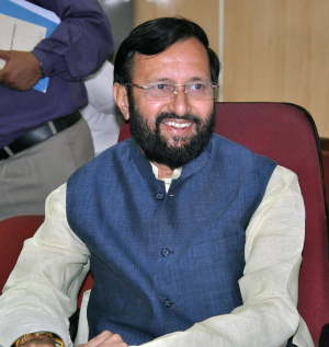 Prakash Javadekar, the Union Minister of State with independent charge of the Ministry of Environment and Forests.