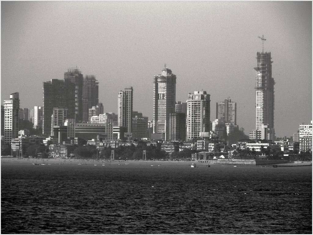 Mumbai skyline from Nariman Point. Photograph by Jayaram Kowta.