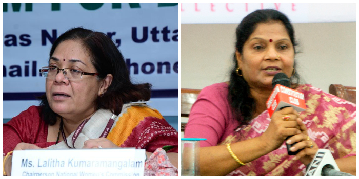 Lalitha Kumaramangalam (left) and Bharati Dey
