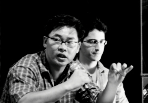 ALF's Lawrence Liang (left) speaking at the iCommons summit in Dubrovnik in 2007.  CC BY 2.0