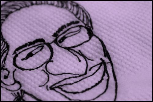 A caricature of Arindam Chaudhuri