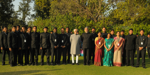 Vice-President Hamid Ansari with the Indian Administrative Service probationers for 2010. Image above is from the website of the Press Information Bureau.