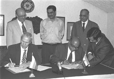 The supplement to the Inter-Governmental agreement dated November 20, 1988 between India and the U.S.S.R. on cooperation in the construction of a nuclear power station at Kudankulam was signed by the Chairman, Atomic Energy Commission and Secretary, Department of Atomic Energy Dr. R. Chidambaram and the Minister of Atomic Energy of Russian Federation Prof. E.O. Adamov, in New Delhi on June 21, 1998. Image above is from the website of the Press Information Bureau.