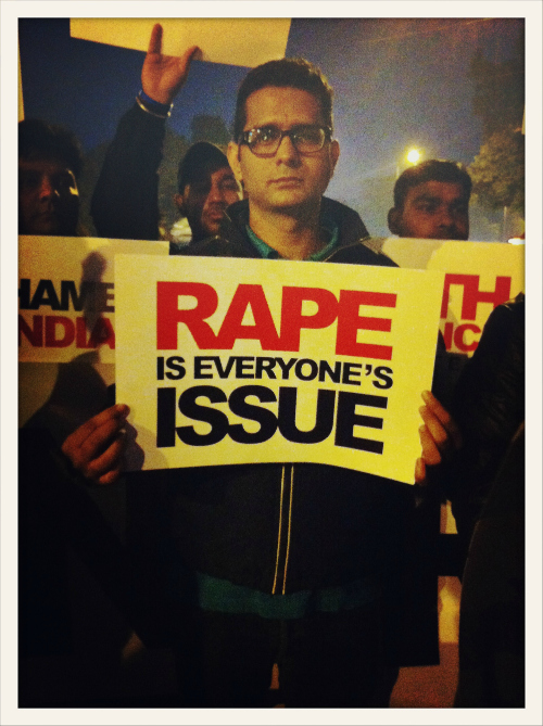 Delhi gang rape protests. Photograph above is by Shilpi Boylla.
