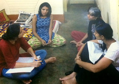 The Jagdalpur Legal Aid Group - (from left to right) Guneet Kaur, Isha Khandelwal, Shalini Gera, and Parijatha Bhardwaj