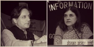 Maneka Gandhi (right), the Union Minister for Women and Child Development introduced the Bill in the Lok Sabha. Shashi Tharoor spoke about the problems with treating 16-18 year olds as adults.