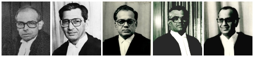 (From left to right) Chief Justice L.M. Sharma and Justices S.P. Bharucha, Jeevan Reddy, Pandian, and S. Mohan formed the bench in the Unnikrishnan Case.