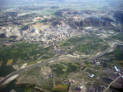 Kathmandu Valley seen from a Dornier 228.